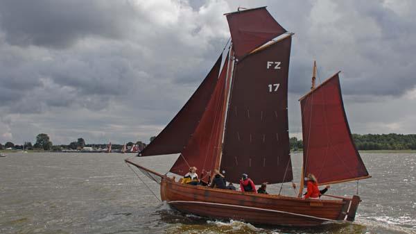 FZ17 Lütte, Volker Gries, Zeesboot Regatta Bodstedt 2017 , 09/2017