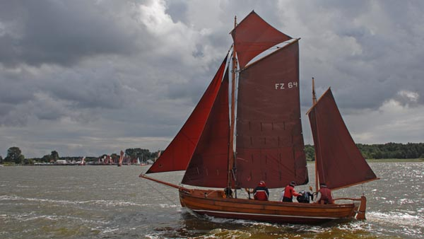 FZ64 Schmuggler, Volker Gries, Zeesboot Regatta Bodstedt 2017 , 09/2017