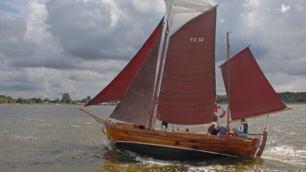 FZ32 Grete, Volker Gries, Zeesboot Regatta Bodstedt 2017 , 09/2017