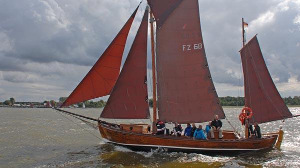 FZ68 Martha, Volker Gries, Zeesboot Regatta Bodstedt 2017 , 09/2017