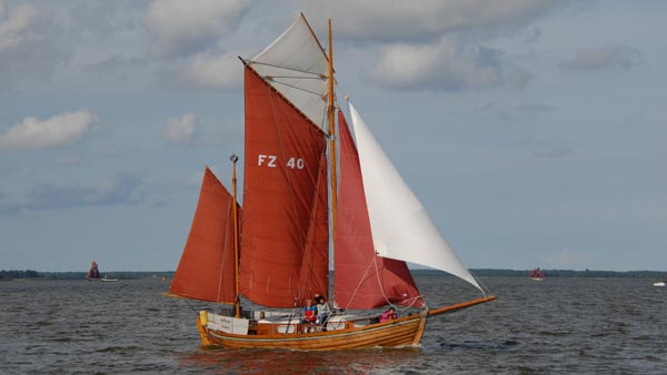 FZ40 Hoffnung, Volker Gries, Zeesboot Regatta Bodstedt 2017 , 09/2017