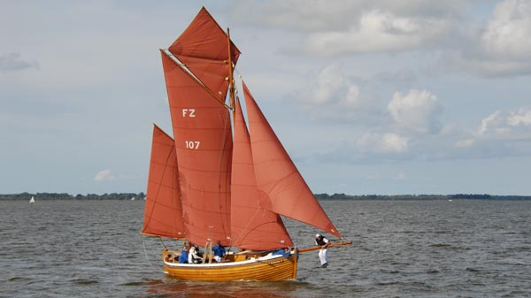 FZ107 Katharina, Volker Gries, Zeesboot Regatta Bodstedt 2017 , 09/2017
