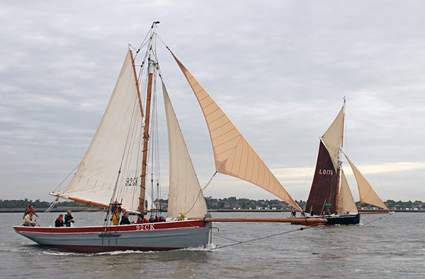 Our Boys CK92, Volker Gries, Colne Smack and Barge Match Race, Brightlingsea, GB , 09/2006