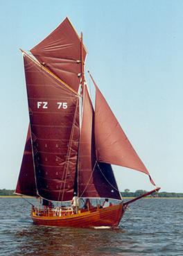 FZ75 Marie, Volker Gries, Barther Zeesbootregatta , 07/2001