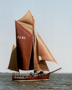 FZ83 Frieda, Volker Gries, Barther Zeesbootregatta , 07/2001
