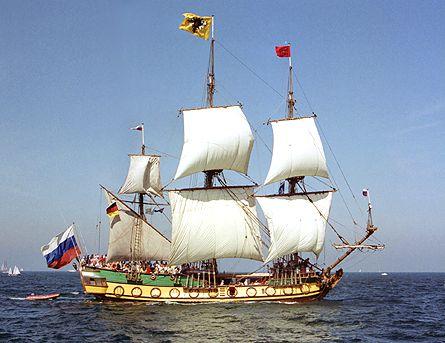 Shtandart, Volker Gries, Hanse Sail Rostock 2003 , 08/2003