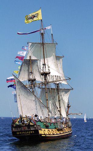 Shtandart, Volker Gries, Hanse Sail Rostock 2004 , 08/2004