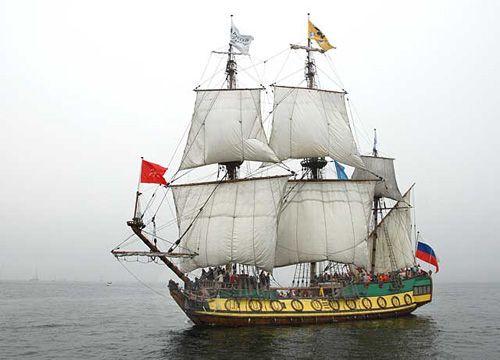 Shtandart, Volker Gries, Hanse Sail Rostock 2007 , 08/2007