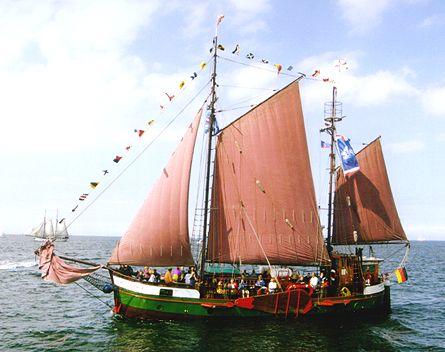 Maria-Dorothea, Volker Gries, Hanse Sail Rostock 2000 , 08/2000