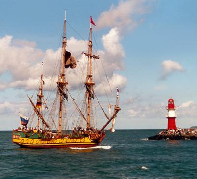 Shtandart, Volker Gries, Hanse Sail Rostock 2001 , 08/2001