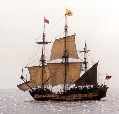 Shtandart, Volker Gries, Hanse Sail Rostock 2002 , 08/2002