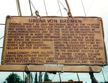 Ubena von Bremen, Volker Gries, Hanse Sail 1996 / Cutty Sark 1996 , 08/1996