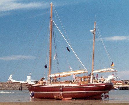 Roter Sand, Navigator sail training e.V., Watt vor Spiekeroog , 07/2000