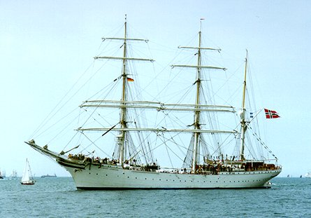 Statsraad Lehmkuhl, Volker Gries, Hanse Sail Rostock 1998 , 08/1998