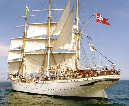 Statsraad Lehmkuhl, Volker Gries, Hanse Sail Rostock 2000 , 08/2000