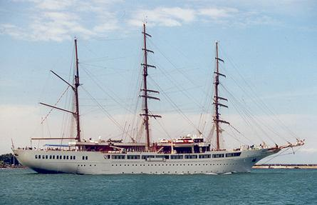 Sea Cloud II, Volker Gries, Rostock-Warnemünde , 06/2001