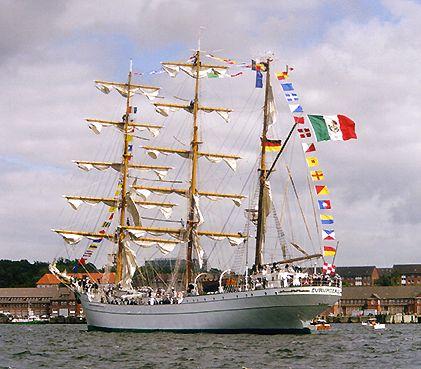 Cuauhtémoc, Volker Gries, Sail Flensburg 2000 / Cutty Sark 2000 , 08/2000