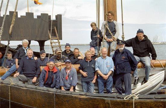 Kamper Hanze Kogge, Volker Gries, Ommelandvaart 2004, Rostock , 07/2004