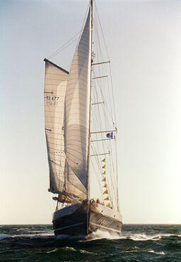 Eendracht II, Volker Gries, Hanse Sail 1996 / Cutty Sark 1996 , 08/1996
